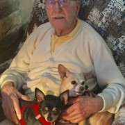 Sammy and Penny with dad